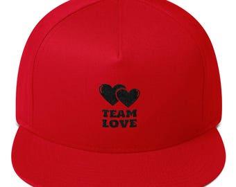 Team Love Flat Bill Baseball Cap