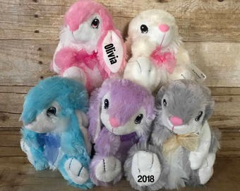 Personalized Plush Easter bunny printed