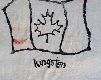 Vintage Rare T-shirt Canada Kingston Big Logo