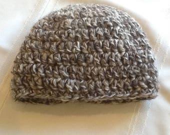 Crocheted toddler beanie hat