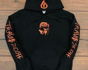 Travis Scott Hoodie Face Logo (Orange Logo)