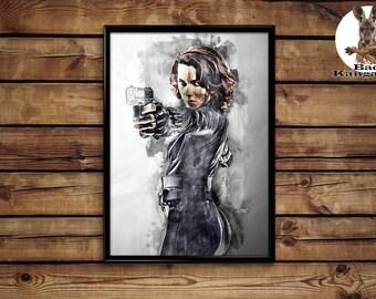 Black Widow poster wall art home decor print