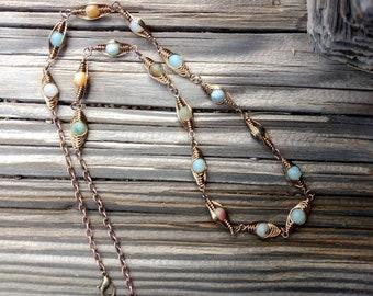 Amazonite Herringbone Necklace