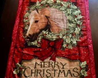 Christmas Horse wall hanging