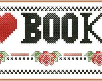 Cross stitch chart Bookmark ZK-001