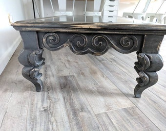 Gorgeous Refinished Vintage Coffee Table