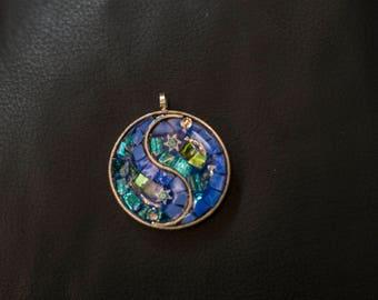 Tao Azul-Mosaic Pendant