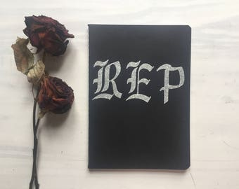 Reputation 'REP' themed notebook