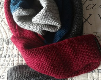 Hand knitted very long scarf