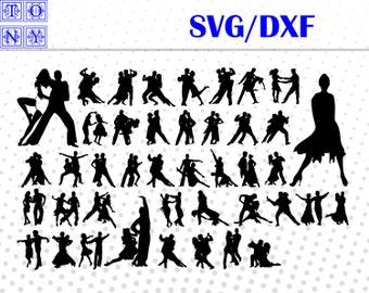 Tango dancers svg,dxf/Tango dancers  clipart