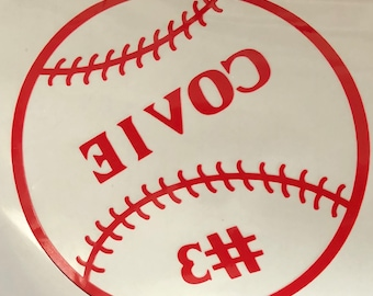 Baseball Window Cling