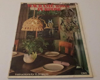 Macrame with a Purpose, Vintage 1977