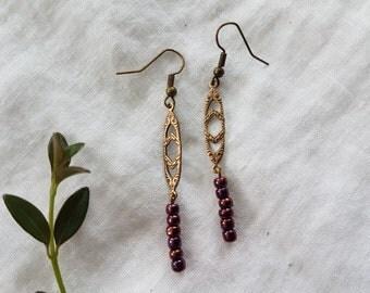 earrings - metal beads