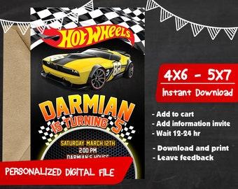 Hot Wheels Birthday Invitation,Hot Wheels Invitation,Hot Wheels Party,Hot Wheels Birthday Party,Hot Wheels Birthday,Hot Wheels-F0243