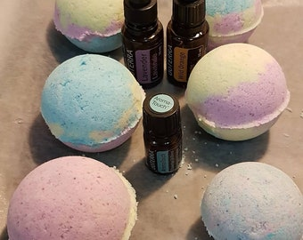 Home made scented bath bombs