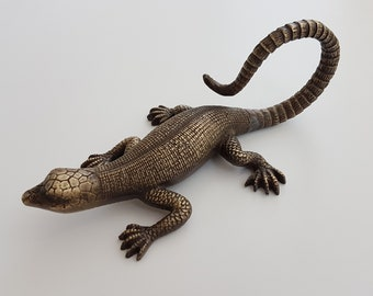 25 cm Cast Brass Lizard