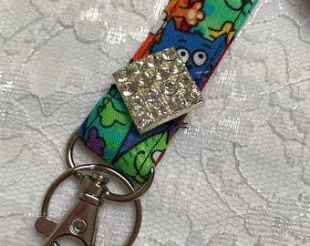 Crazy Cat Sparkle Lanyard~Keys, Badges, ID Holder