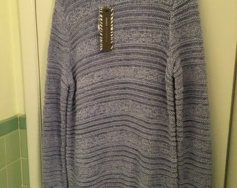New Blue/Purple Pull-Over Sweater