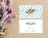 Watercolour Eucalyptus Business Cards - Lovesick Paperie Custom Design - Minimal Chic Business Cards - Printable Business Cards