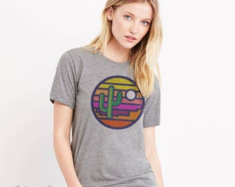 Stained Glass Sunset : Arizona Series Crew Neck T-Shirt