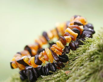 Amber beaded bracelet from 100% raw Genuine Baltic Amber beads