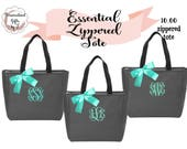 6 Personalized Bridesmaid Gift Tote Bags, Wedding Day Totes, Bridal Party Gifts, Bridesmaids Tote, Monogrammed Tote Bags, Personalized Gift
