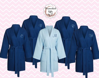 Personalized Bridesmaid Robe Set of 2 ,Monogrammed Robe, Waffle Robe, Personalized Bridesmaid Gifts