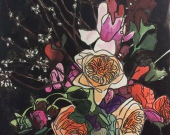 Original watercolor painting 14/100