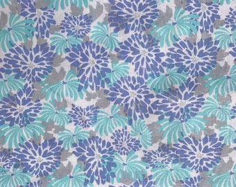 """NEW! """"Totally Totable"""" Weighted Lap Blanket - Adult or Child - Aqua Lavender Gray Flowers - Choose your weight and minky color"""