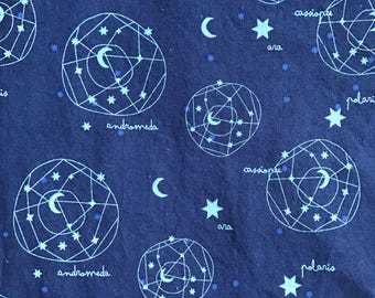"""NEW! """"Totally Totable"""" Weighted Lap Blanket - Adult or Child - Constellations Space Navy Blue - Choose your weight and minky color"""