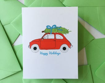 Holiday Car with Tree
