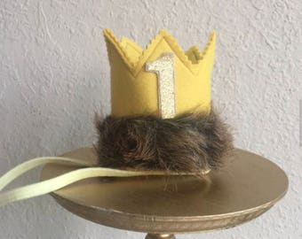 Where The Wild Things Are Party Supplies, First Birthday Crown, Wild One Crown,  1st Birthday Ideas, Wild Thing Crown, Wild One Theme