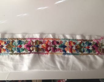 Beautifully embroidered trim