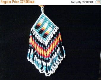Three Feathers Necklace, Three Feathers Seed Bead Necklace, Three Feathers Necklace, Native American Three Feathers Necklace, Native Made