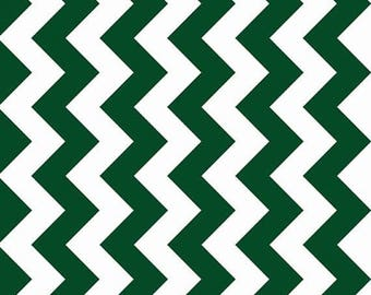 ON SALE - 10% Off Riley Blake Designs Chevron Hunter Green Medium Quilting Apparel Fabric By The Yard