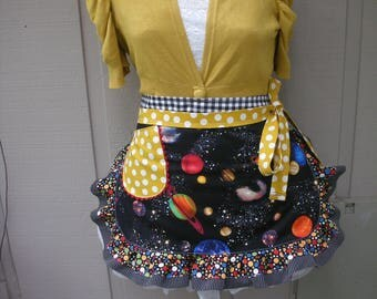 Aprons - Womens Aprons - Solar Eclipse Aprons - Sun Eclipse Aprons - Solar System Aprons -  Aprons with The Planets - Annies Attic Aprons
