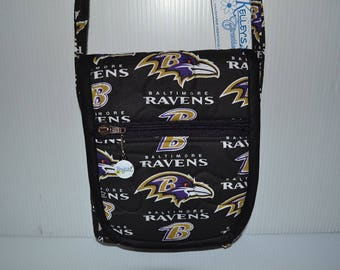 Quilted Fabric Cross Body  Hip Bag Baltimore Ravens NFL