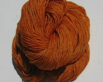 Orange Alpaca and Wool Yarn,  3 ply Sock Yarn, 250 yards, Farm Grown and Made in Michigan, Free Shipping