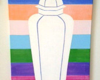GINGER JAR STRIPE Original Painting