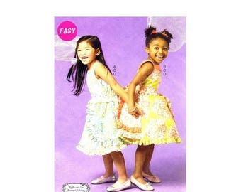 SALE Girls Dress Petticoat Belt McCalls P304 Sewing Pattern Size 6 - 7 - 8 Uncut