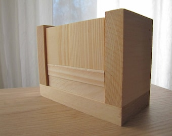 Blank Perpetual Wooden Block Calendar - Month and Day - Blank Plain Wood