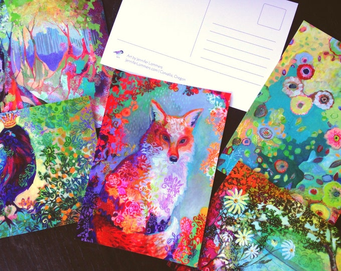 Featured listing image: Postcard set of 5 different designs by Jennifer Lommers