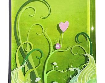 simple kindness - original layered resin painting