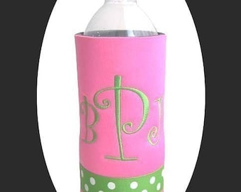 Custom Personalized Water Bottle Cooler -- Design Your Own