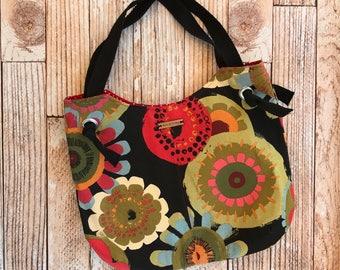 Floral Bucket Bag. Shoulder Bag. Ladies Purse. Tote bag. Womens Purse.  Everyday Bag.  Ladies Handbag. Gift for Her.  Boho Bag