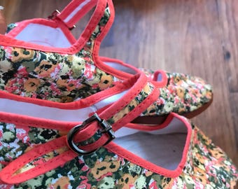 Oriental mary jane style flats sz 8 by im.butterfly creations