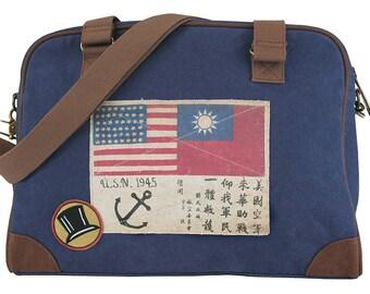 WWII Pilot's Bag - Catalina NAVY Pilot's Bag by Trixie & Milo
