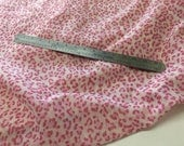 "1 m / 1.1 yds — one-way stretch tulle mesh for lingerie or dressmaking — leopard print — hot pink/ ivory — 110 cm / 44"" wide"