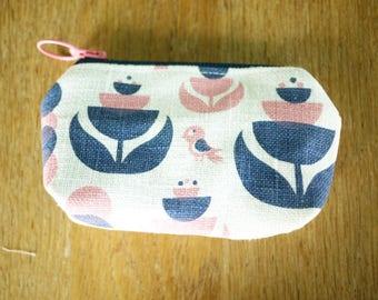 mini linen pouch