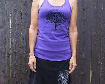 Willow Tree Tank Top Purple XS,S,M,L,XL